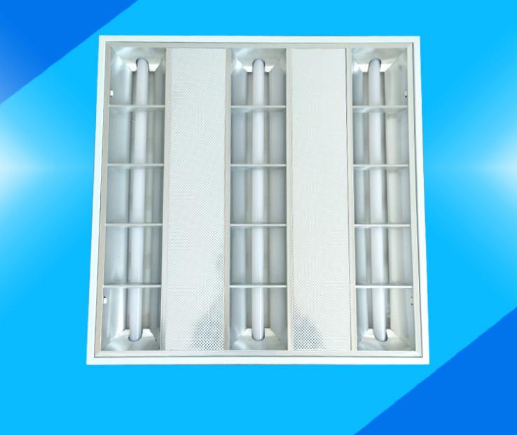 广东生产 LED格栅灯厂家T5 led格栅灯盘嵌入式哑光一体化格栅灯600*600灯盘t8300*1200