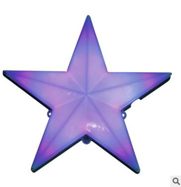 厂家直销内外控LED点光源 户外工程防水景观灯 圆形星型七彩LED亮化跑马灯