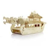 供应木制3D立体玩具儿童益智木制工艺品拼图巡洋舰木质3D 模型拼