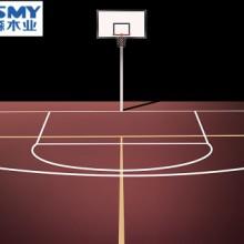 篮球场馆中的运动木地板