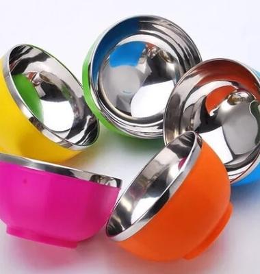 不锈钢碗双层图片/不锈钢碗双层样板图 (4)