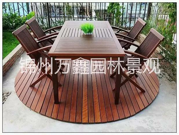 沈阳锦州万鑫园林防腐木桌椅批发133防2219腐5117木