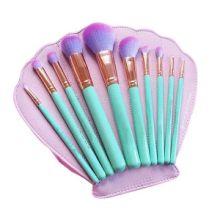 10支化妆刷 十支贝壳包化妆刷套装 美妆工具套装 全套 化妆工具 现货 10支贝壳包化妆刷