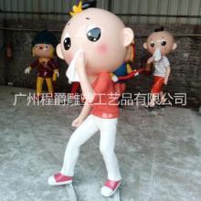 广州专业生产玻璃钢消防卡通公仔雕塑消防仿真器材雕塑 来图加工定制