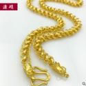 厂家直销 厚金首饰越南沙金镀厚金男项链爆款厚金泰链支持一件代发
