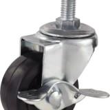 2寸轻型橡胶螺杆边刹轮 2寸轻型橡胶螺杆边刹轮广东厂家直销