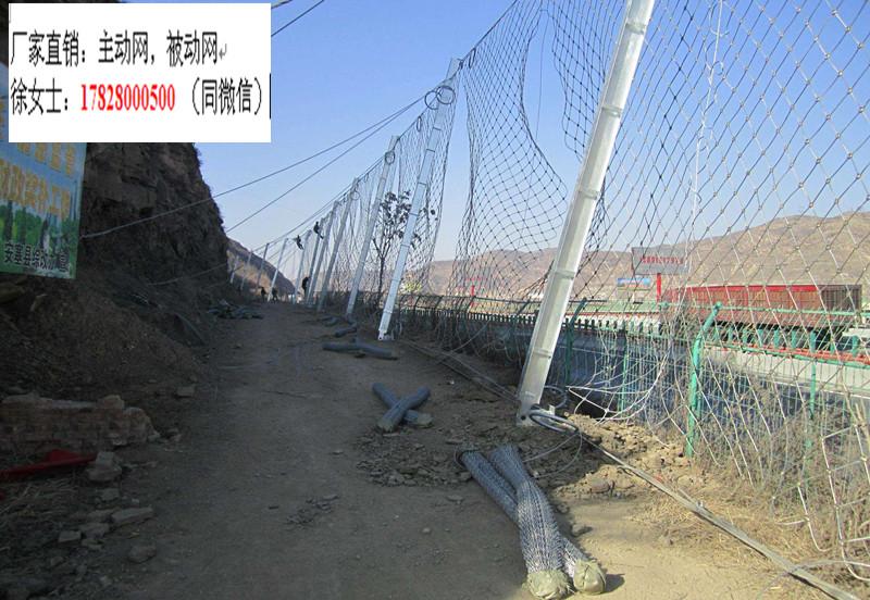 公路被动边坡防护网挂网RX-075生产厂家铁路被动拦石网价格