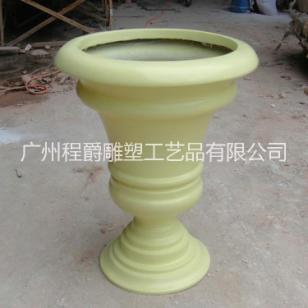 玻璃钢杯形花盆图片