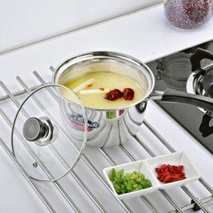 不锈钢韩式单柄奶锅图片