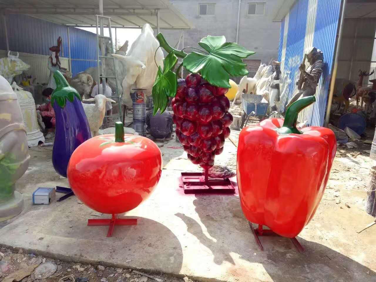 玻璃钢果蔬雕塑摆件,仿真白菜雕塑摆件,蔬菜蔬果雕塑,农业主题雕塑,可