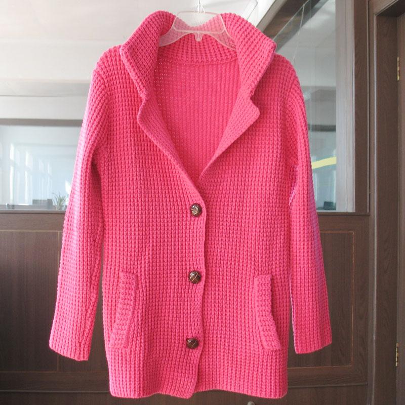 海阳毛衫,韩版粉红纯色毛衫
