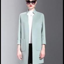 小批量生产手缝双面羊绒双面尼大衣加工 双面尼代加工厂 手工双面尼大衣批发