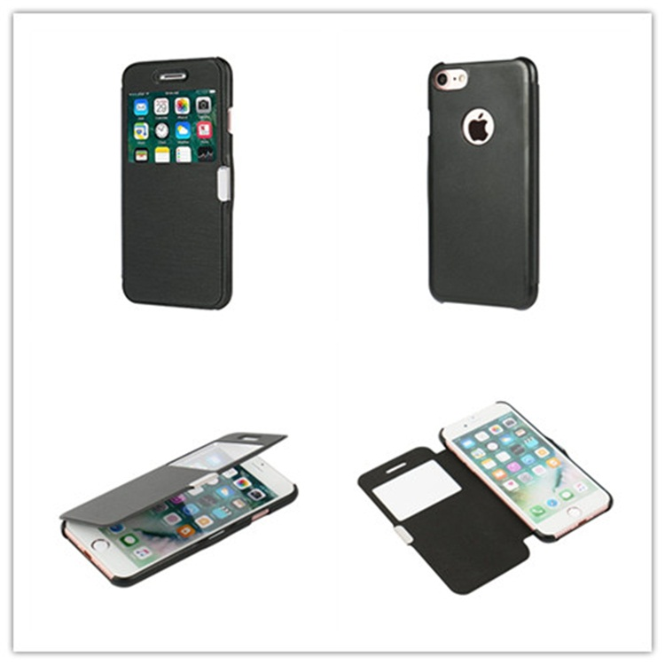 iphone7单窗磁扣手机套 直销英国畅销款 iphone7 左右翻磁扣手机保护套 磁铁对吸手机套