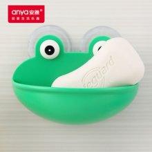 创意环保塑料浴室沥水肥皂盒 青蛙香皂架 强力吸盘可爱卡通香皂盒