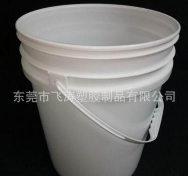 厂家直销20L防水塑料桶pp涂料桶食品包装桶1升乳白胶桶带盖1升