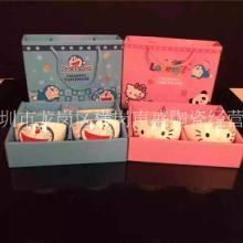 新款陶瓷碗筷餐具 儿童礼品套装 卡通碗筷2/4/6 潮州厂家 单朵卡通碗筷套装批发