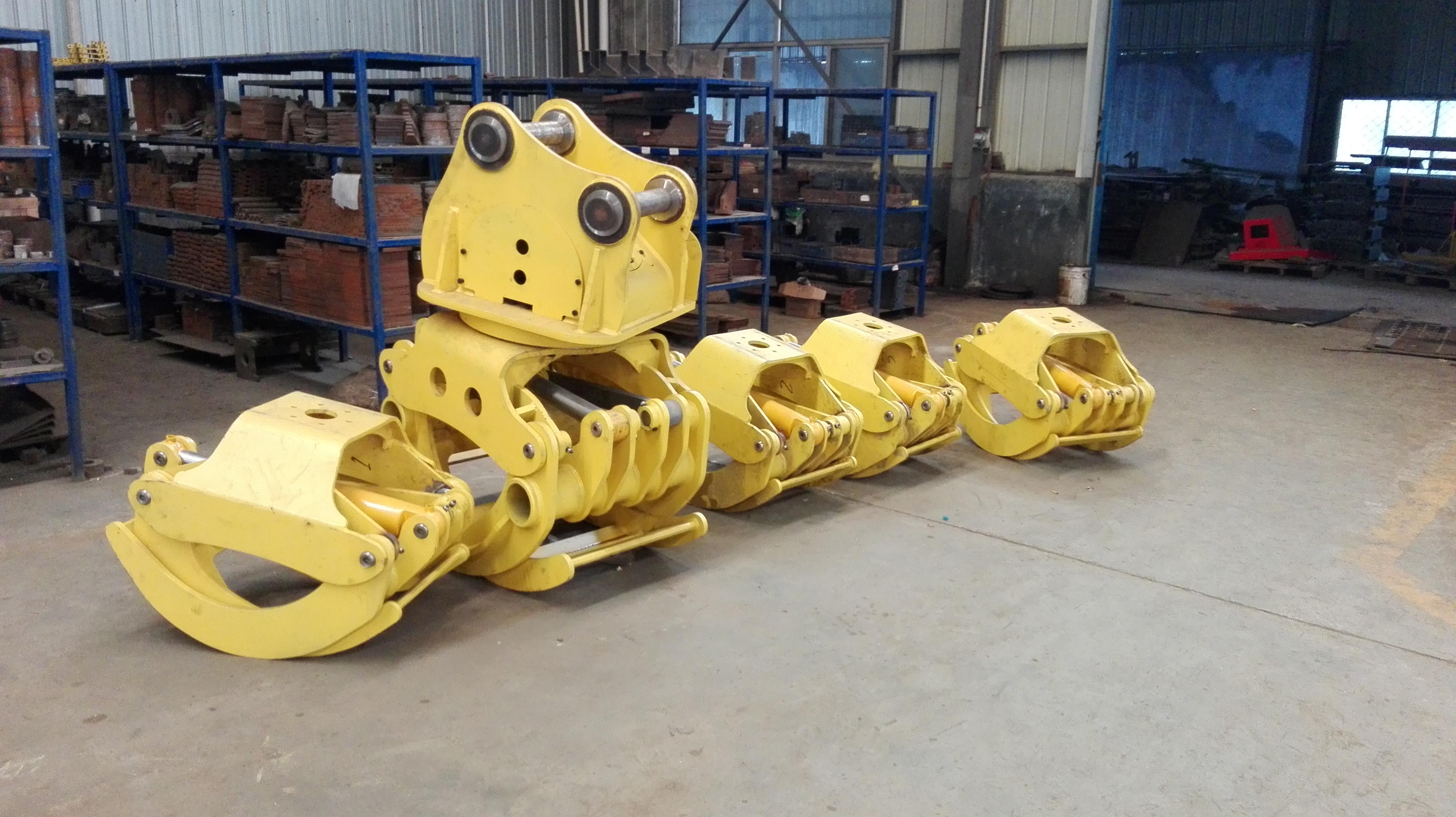 夹木器 抓木器 抱木夹 360度旋转 开口大于2米 抱合面积0.7平方 扭矩大 速度快 北海地区使用一天赚2000