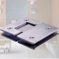 捷派批发定制玻璃夹 不锈钢浴室拉丝门夹方型180度玻璃夹卫浴配件