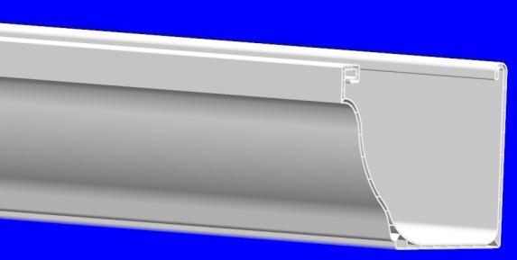 8K、7HK型彩铝雨落水系统,成品天沟
