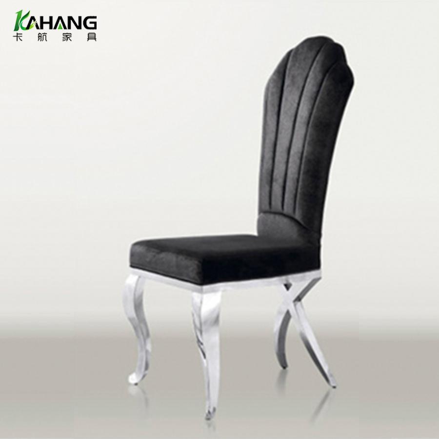 卡航酒店椅厂家现代简约铁艺宴会餐椅 酒店餐厅餐椅批发