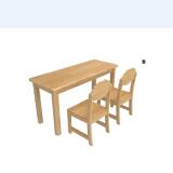 幼儿园家具-- 实木2人无底桌