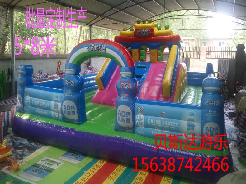 宁波游乐设备厂大型充气玩具 充气蹦床室外淘气堡 充气城堡直销
