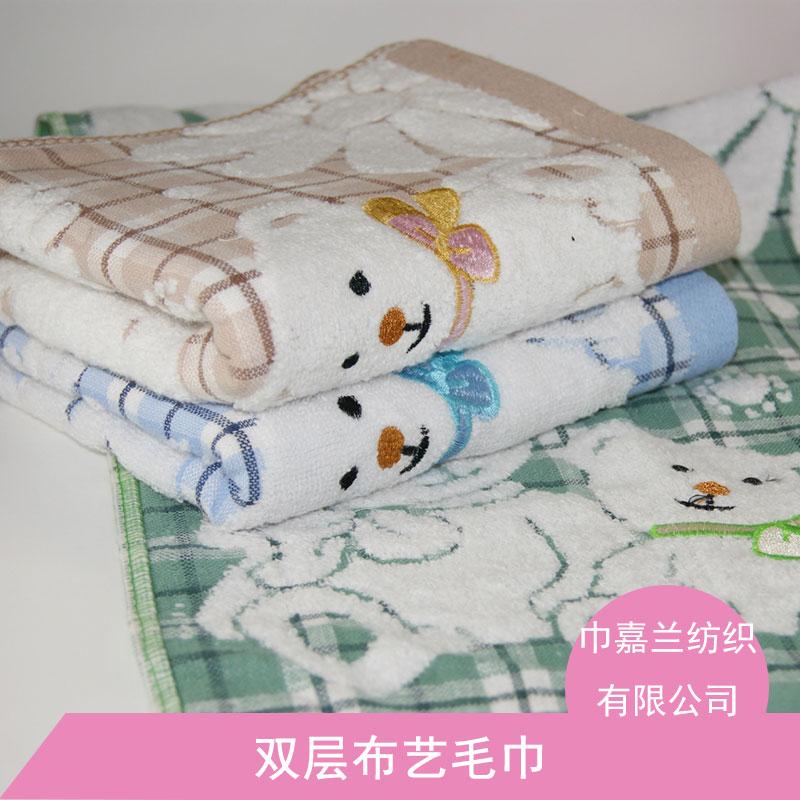 雙層布藝毛巾純棉面巾布藝雙層印花毛巾不掉色批發圖片