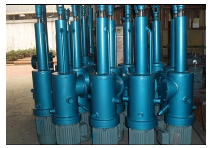 电动机电力驱动装置电液杆 平行式/垂直式工业电动液压推杆厂家直销图片
