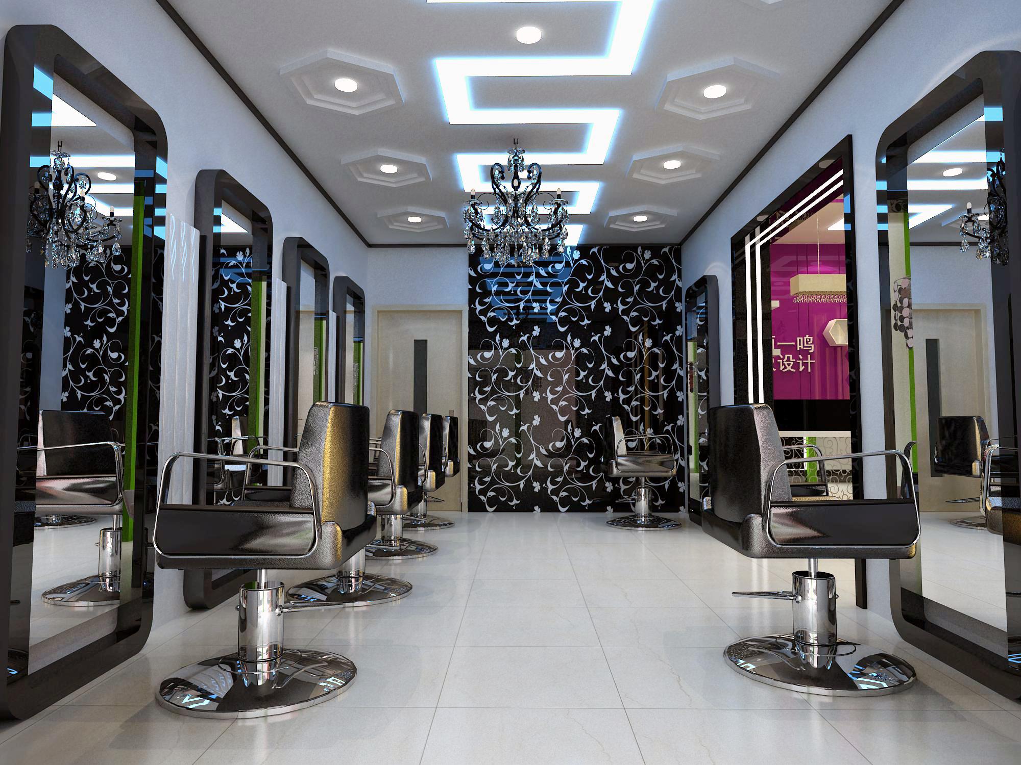 发廊装修设计 发廊装饰装修 天津装饰公司 装修装饰专业公司 北辰区发