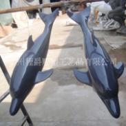 玻璃钢海豚动物雕塑图片