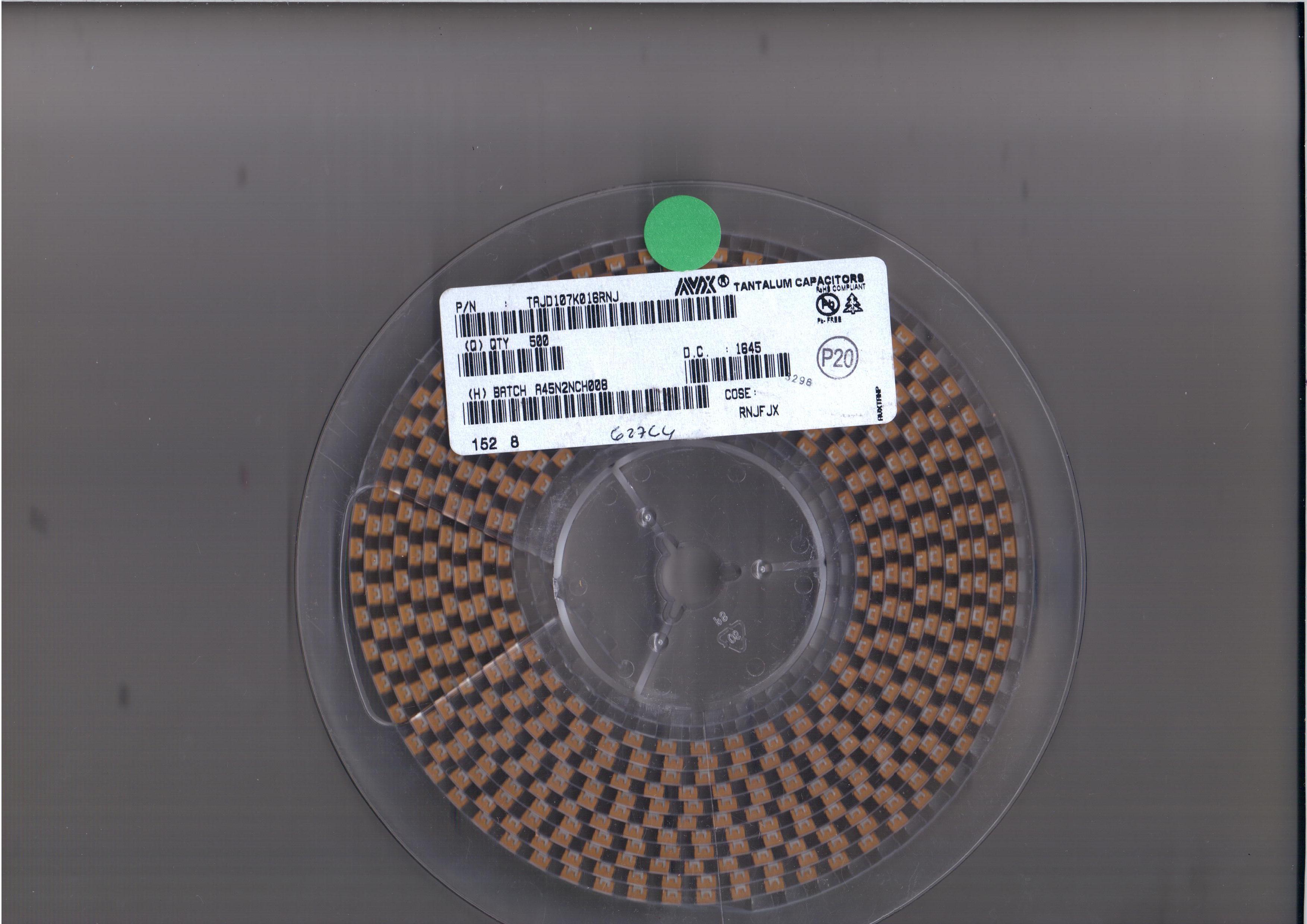 avx钽电容 B型 2.2uF ±10% 35V AVX钽电容授权一级代理直销