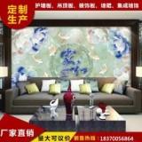 竹木纤维集成墙面板 仿大理石uv板材 3D电视背景墙装饰面板