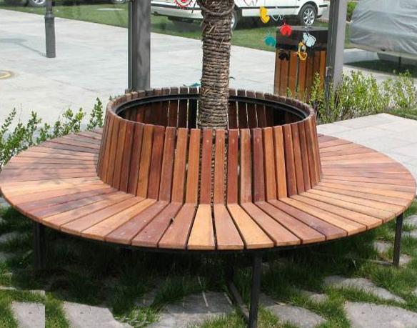 青岛订制公园围树椅 公园休闲座椅报价