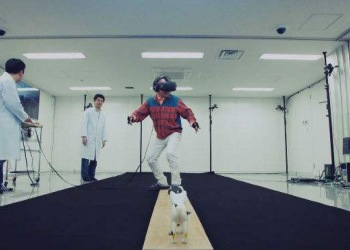 高科技产品VR雪山吊桥图片