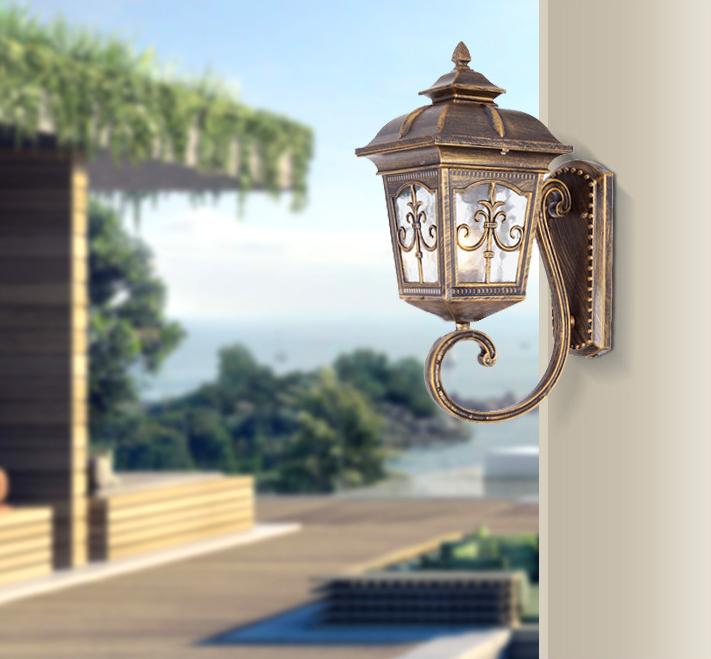 欧式创意 复古十字工艺 户外壁灯  浙江防水大门 阳台过道花园庭院灯
