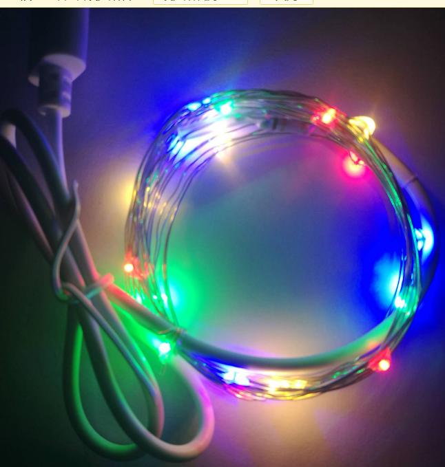USB10米100灯5V四彩灯串