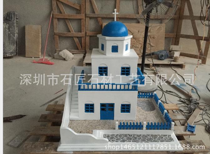 石材别墅楼房建筑物汽车模型制做雕刻雕塑
