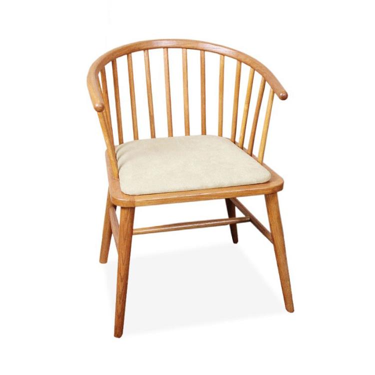 餐椅欧式实木餐椅 美式简约软包复古椅 现代北欧时尚咖啡厅新古典椅子
