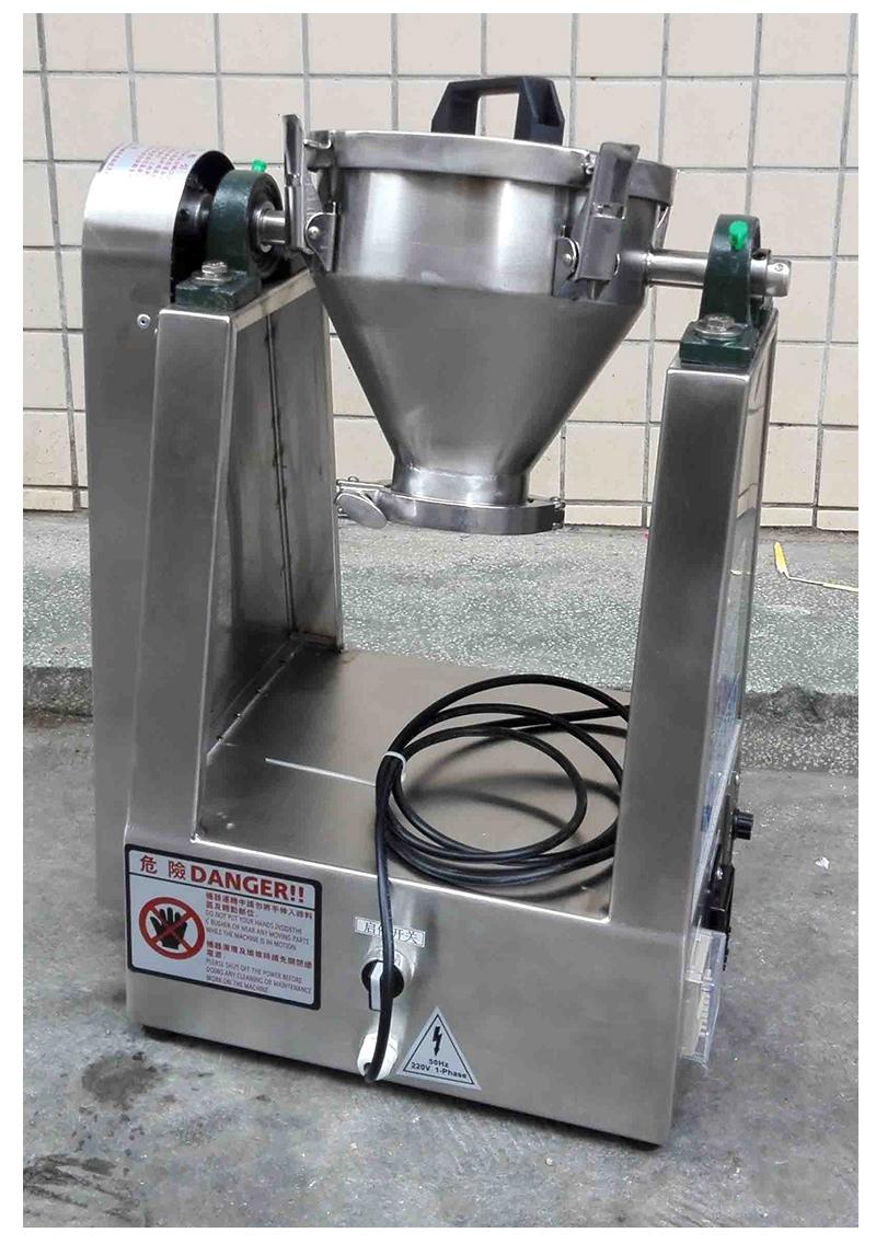 1KG不锈钢混合机 1KG实验室用混合机 1L金刚石混合机 1升混合拌料机 1公斤干粉混合机