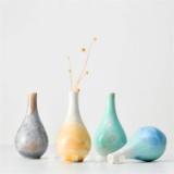 景德镇陶瓷结晶釉干花花瓶现代简约创意家居摆件装饰品工艺品花器  景德镇结晶釉陶瓷花瓶摆件