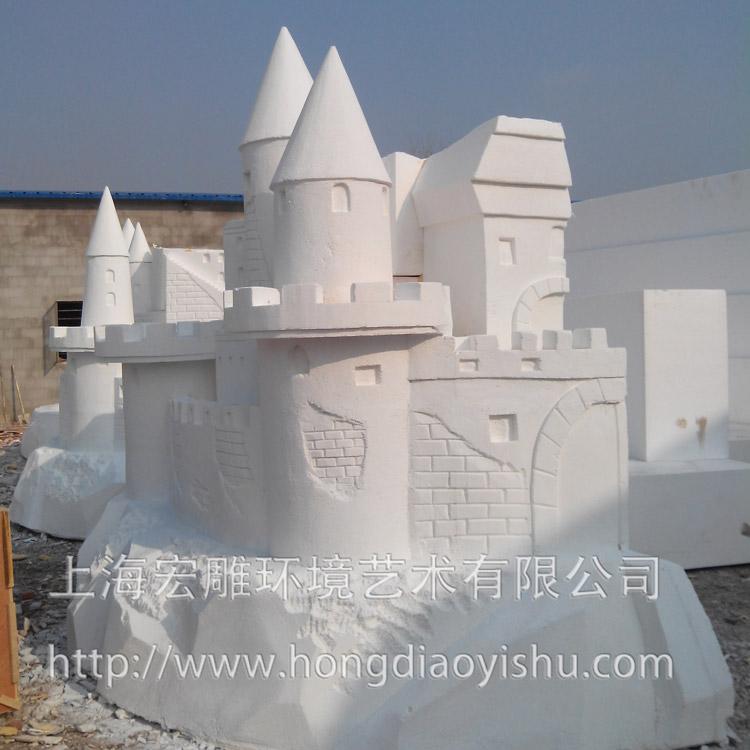 婚庆泡沫道具雕塑欧式城堡舞台拱门罗马柱节日道具商业美陈上海