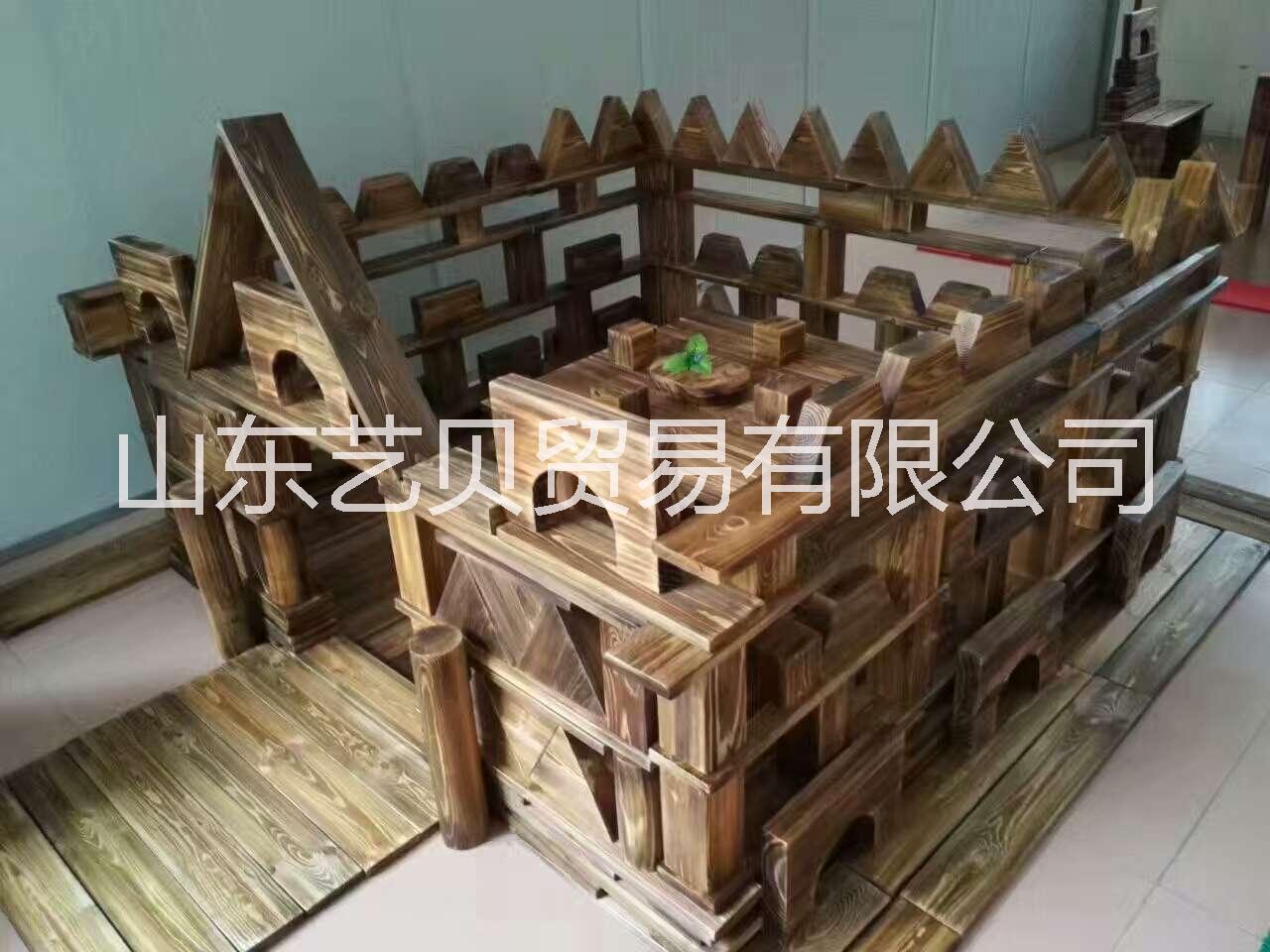 幼儿园碳化积木 淄博户外玩具