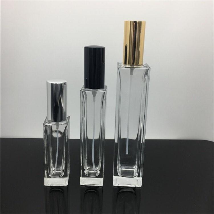 厂家供应100ml高档香水瓶 矩形晶白料香水玻璃瓶 方形精油瓶