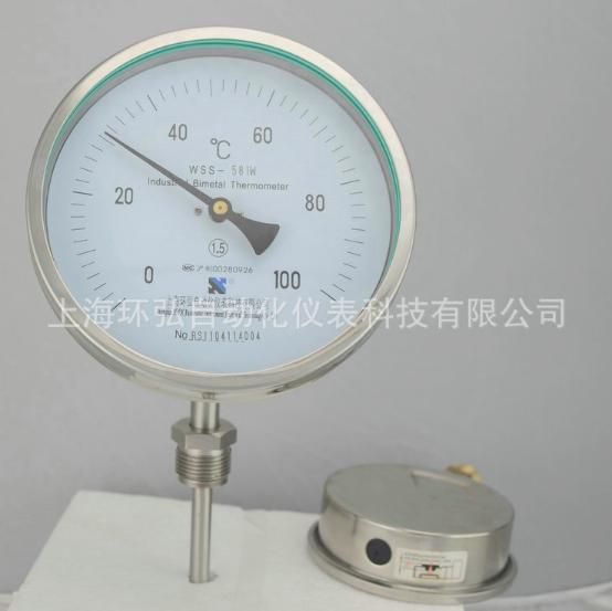 厂家直销 WSS-511W 不锈钢双金属温度计 双金属温度计系列