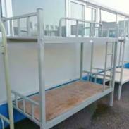 上下铺铁床双层床高低床铁艺床员工图片