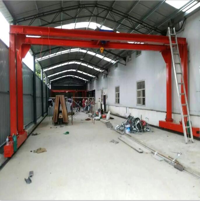 直销出口固定龙门架简易起重固定龙门架10吨轨道双梁龙门架