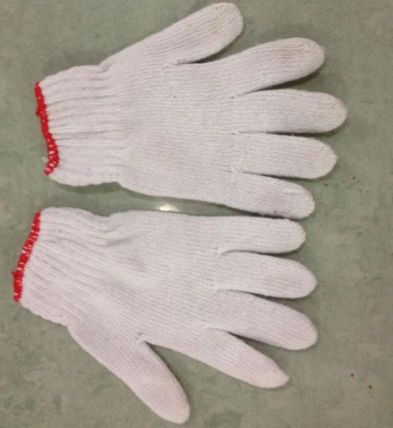 棉纱手套600G 深圳厂家直销棉纱手套 线手套  防滑耐磨劳保手套