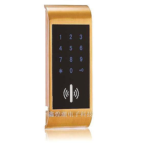 锌合金电子智能酒店锁图片