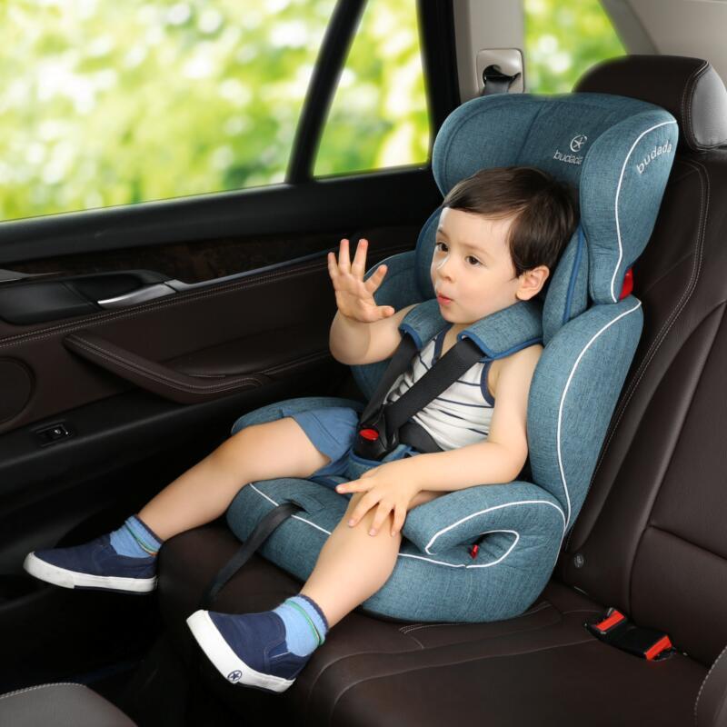 步达达安全座椅雅骑士E600蓝色9个月-12岁 德国步达达BUDADA儿童安全座椅