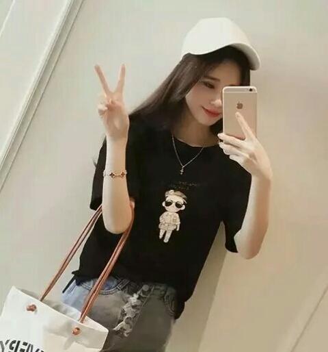 时尚流行韩版显瘦短袖